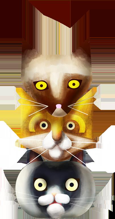 3D Petits Chats